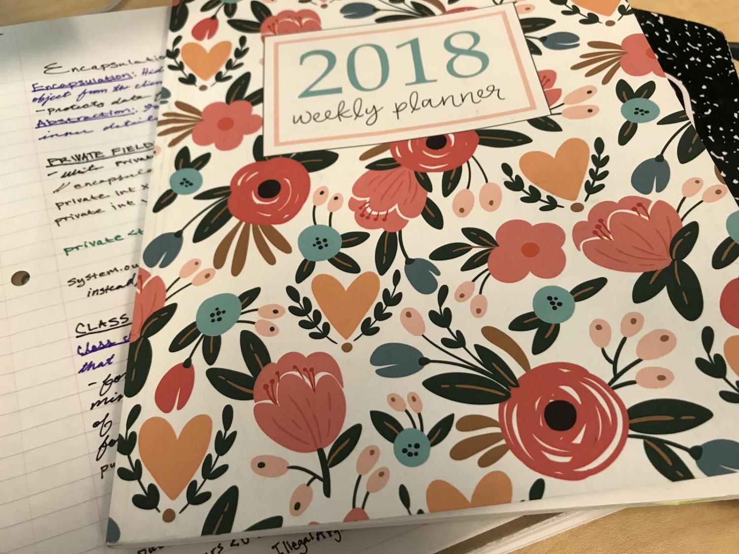 It's important to stay organized with a planner!