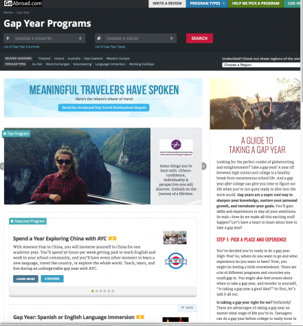 GoAbroad.com is one of many sites that help students choose a gap year program that is right for them.